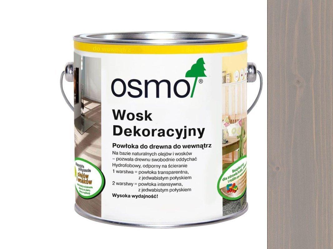 OSMO 3119 wosk dekoracyjny JEDWABISTY SZARY 125ml