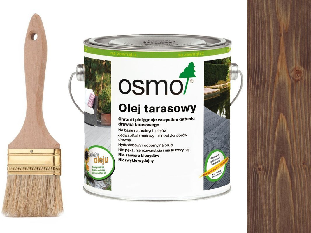 OSMO Olej do Tarasów 021 DĄB BRUNATNY 25L GRATIS