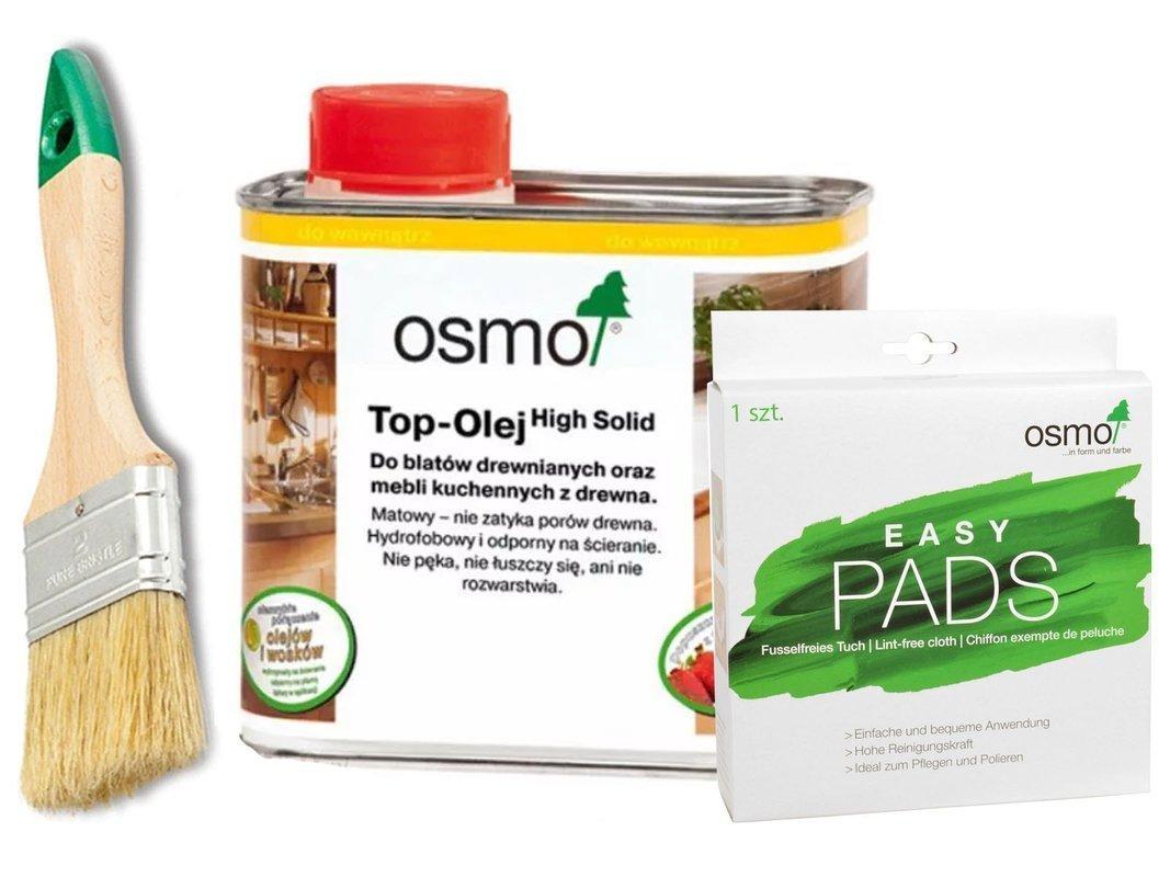 OSMO TOP olej do BLATÓW 3038 + EASY PADS + PĘDZEL